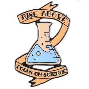 Science Nerd Enamel Pin Rise Above Beaker Inspired
